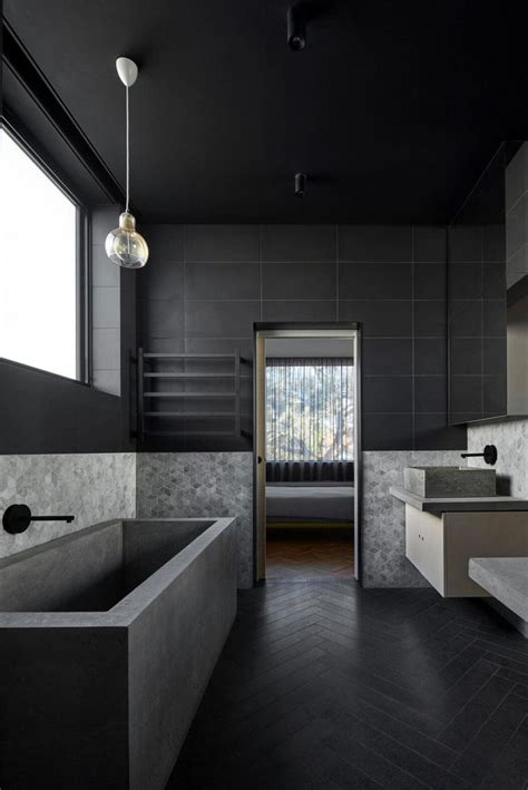 black bathroom design ideas best 25 black bathrooms ideas on concrete