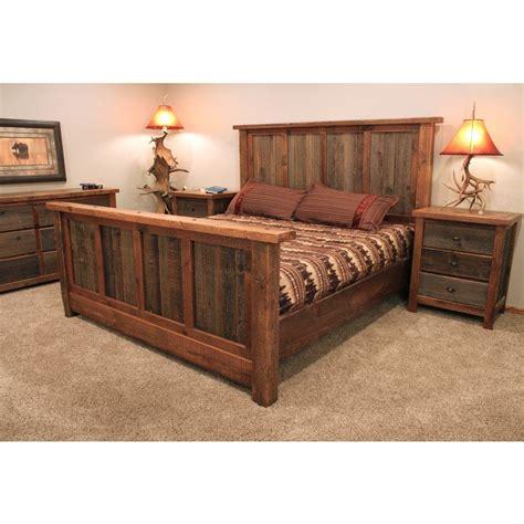 Reclaimed Wood Bedroom Set by Rustic Reclaimed Barn Wood Bed