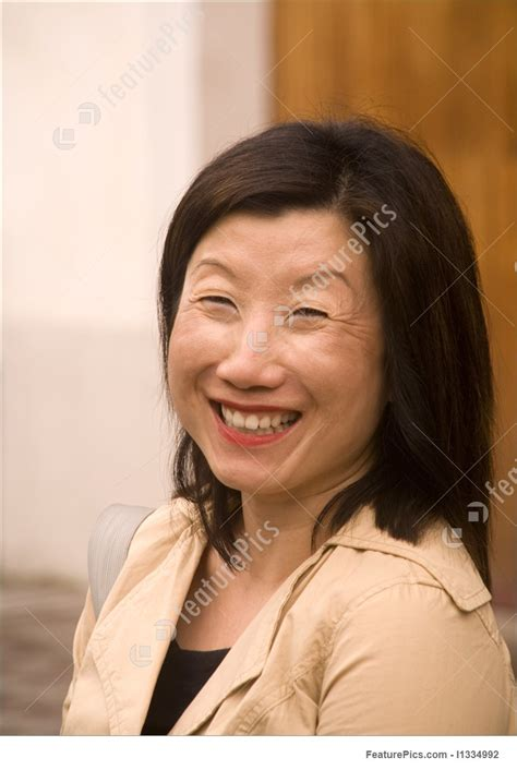japanese middle age women woman asian smiling broadly picture