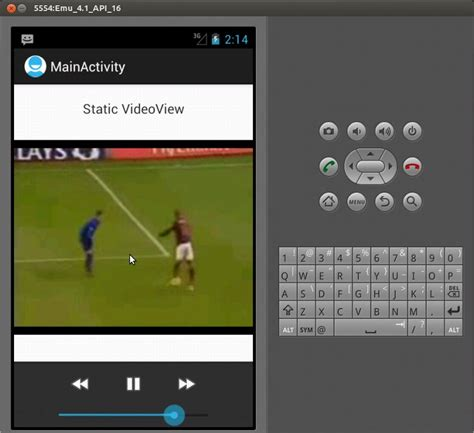 android videoview sle program android audio players