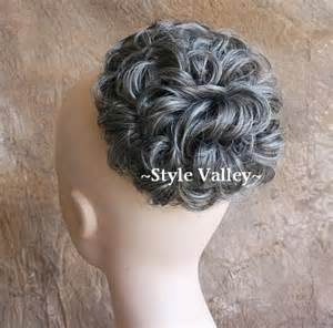 salt and pepper hair buns salt pepper bun extension gray hair piece hairpiece wig