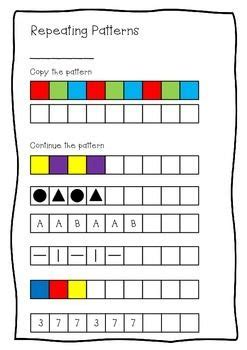 pattern continuation worksheet repeating patterns worksheet copy continue and create