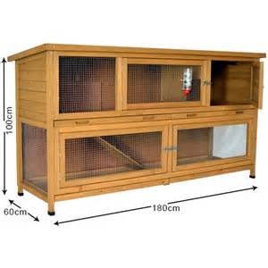 The Hutch The Coach House 6ft Large Rabbit Hutch Storey