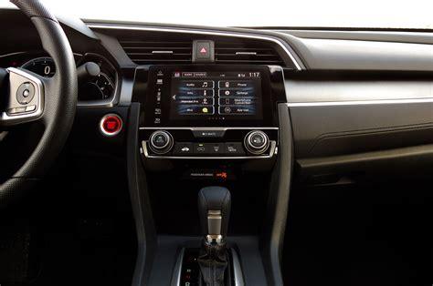 honda civic 2016 interior 2016 honda civic ex sedan review automobile magazine
