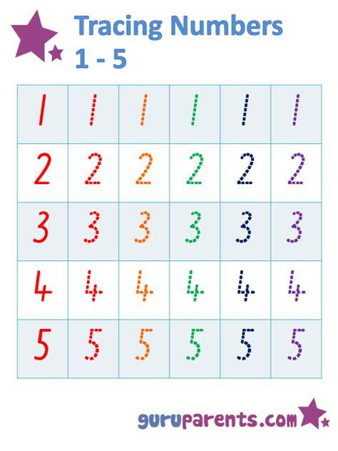 printable tracing numbers 1 5 tracing numbers 1 5 worksheet printables pinterest