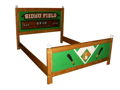 Football Bed Frame Custom Made Bed Frame Sports Theme Baseball Football Basketball Design Your Own Bed By
