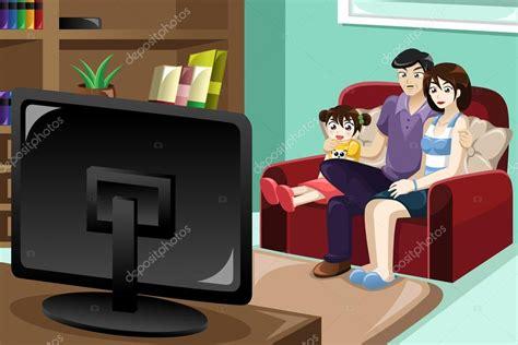 imagenes graciosas viendo television familia viendo la televisi 243 n vector de stock