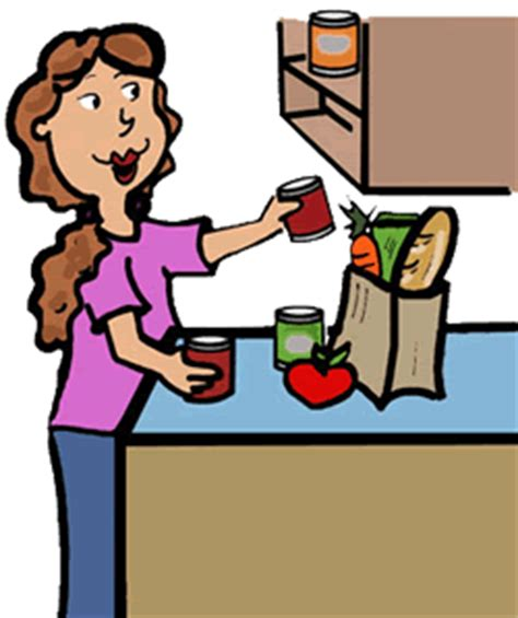 what to put in version of putting away groceries clipart