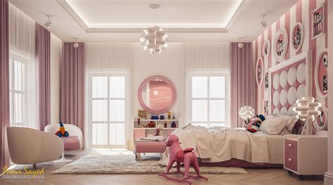pink  white girls bedroom design idea digsdigs