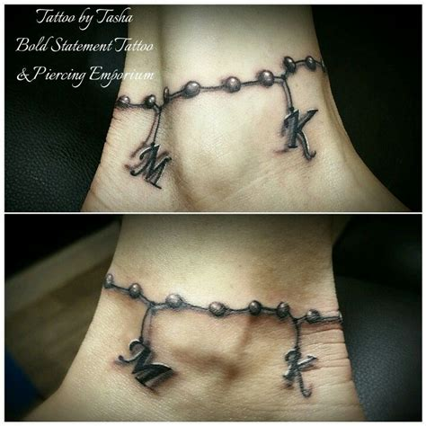 ankle tattoo designs with names best 25 ankle bracelet tattoos ideas on ankle