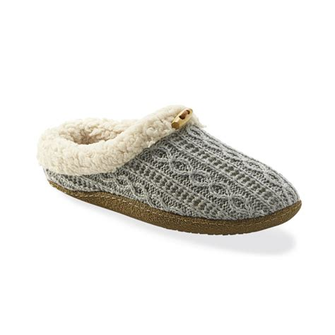 cable knit slippers s cable knit fleece slippers casual and comfortable
