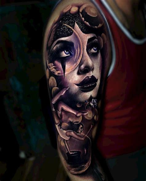 magician tattoo magician mens arm best design ideas