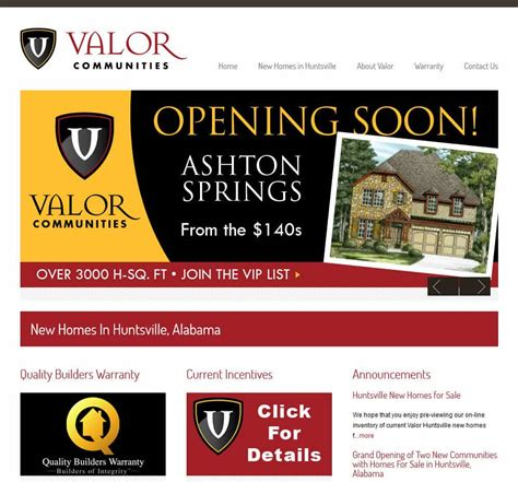 valor communities frogtown s web design