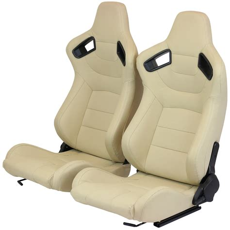 fully reclining seats pair of pvc leather fully reclining car seats