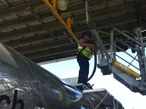 truck loading fall protection railcar loading platforms flexible lifeline systems