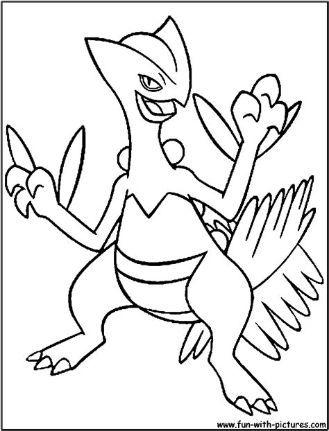 pokemon coloring pages grovyle pokemon of mega sceptile free colouring pages
