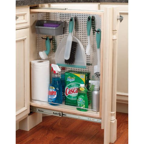Kitchen Desk Organizer Rev A Shelf Kitchen Desk Or Vanity Base Cabinet Pullout Filler Organizers W Perforated