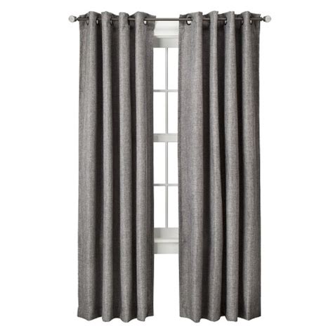 target curtains gray threshold basketweave curtain panel target
