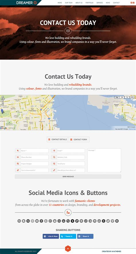 themeforest form dreamer responsive one page parallax template by