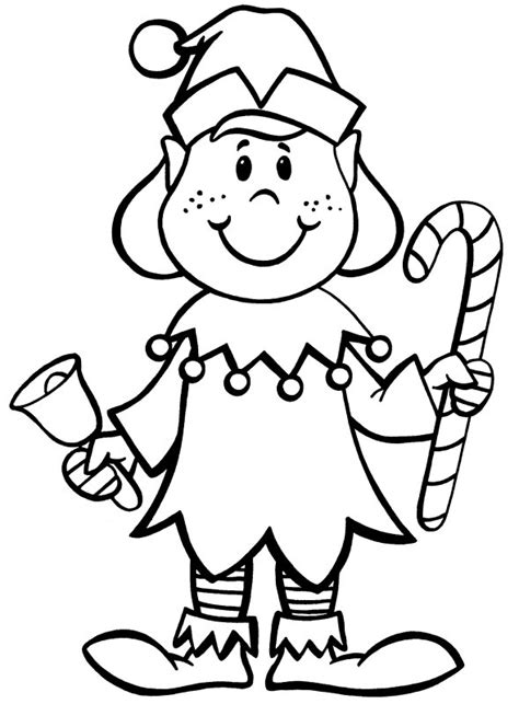 coloring pages elves santa christmas coloring pages