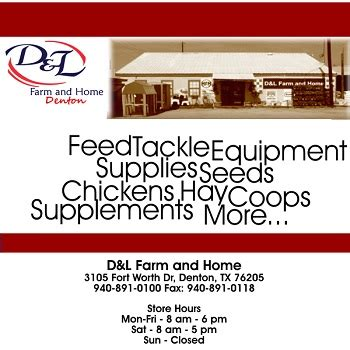 d l farm and home sells dependable supplies in
