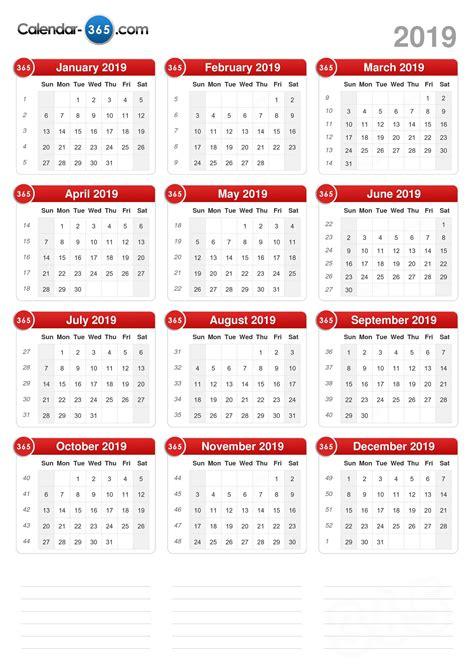 Calendã Janeiro 2019 2019 Calendar