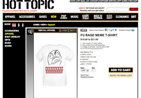 Meme Shirts Hot Topic - hot topic ends fffuuuuuuu t shirts the mary sue