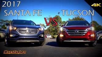 Hyundai Tucson Santa Fe Difference Ultimate Comparison 2017 Hyundai Santa Fe Sport Vs Tucson