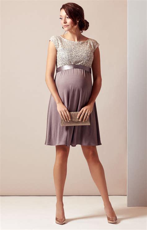 Dear Fashion Mias Robe by Maternity Dress Dusky Truffle Maternity Wedding