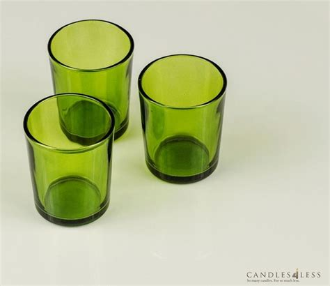 Colored Glass Candle Holders Colored Glass Votive Holders 1 Dozen Candles And