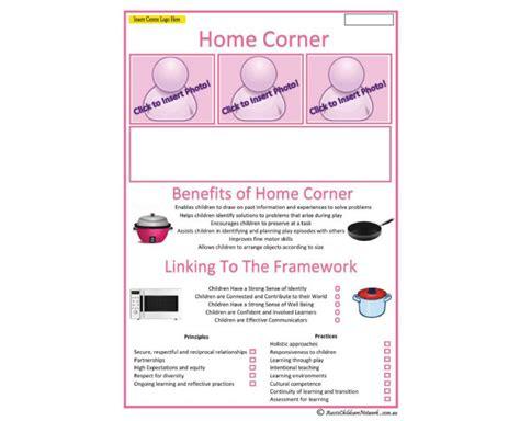 Interest Area Home Corner Aussie Childcare Network Learning Portfolio Template