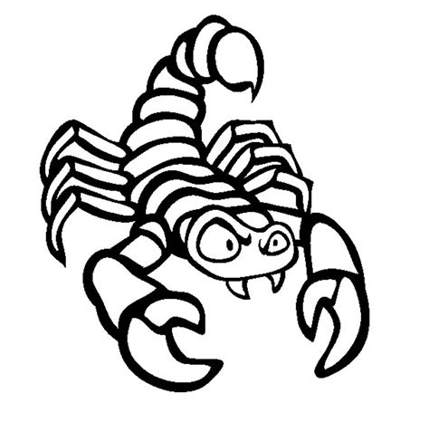 Coloring Pages Printable free printable scorpion coloring pages for