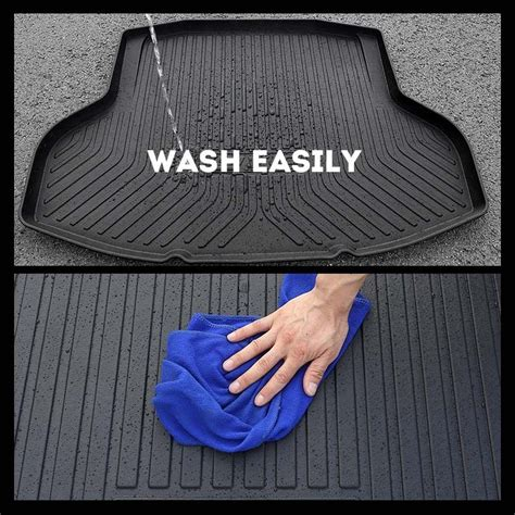 all weather car cargo rear trunk mat boot liner tray for