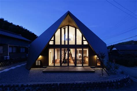 Home Origami - origami style roof embraces this modern japanese home