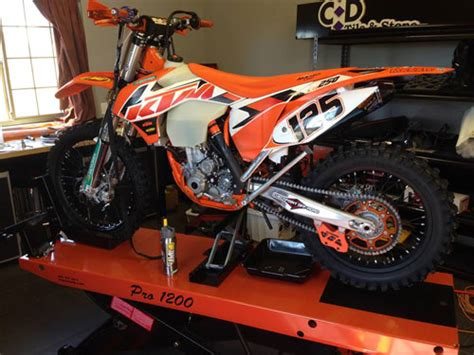 Ktm Dealer Nh Racing Bikes Get A Lift Using The Pro 1200 Lift Table
