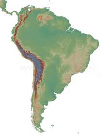 physical map of south america blank blank physical map america