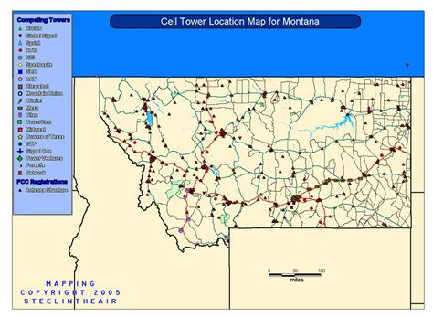 cell phone tower map cell tower location maps for each state cell tower