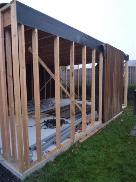 houtskelet tuinhuis bouwen modern tuinhuis bijgebouw de foto s zoals beloofd bouwinfo