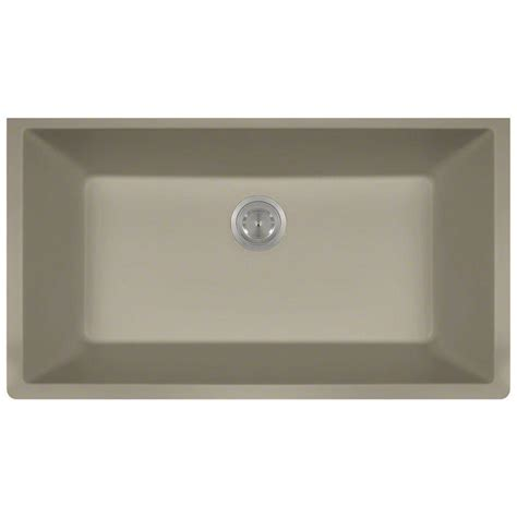 Slate Kitchen Sink Mr Direct Undermount Composite 33 In Single Basin Kitchen Sink In Slate 848 Slate The Home Depot
