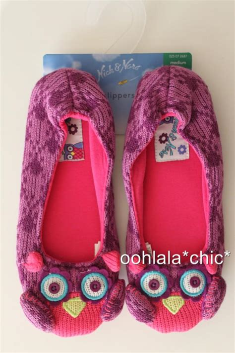 nick nora slippers nick and nora purple owl closed back bedroom slippers s m