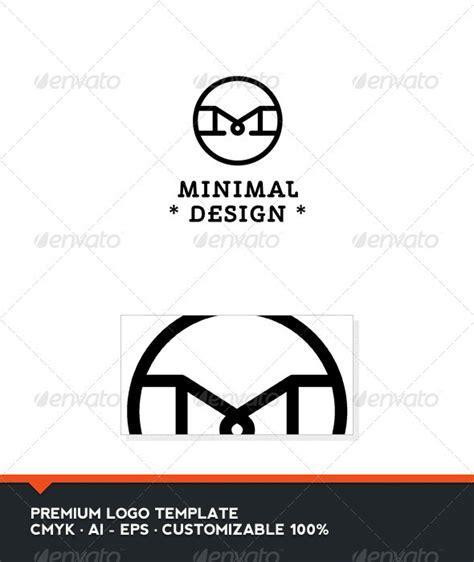 minimal design letter logo template domibit