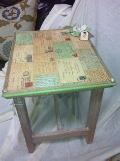 Decoupage On Wood Table - 1000 ideas about decoupage table on decoupage
