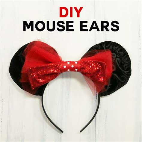 How To Make Mickey Mouse Ears With Construction Paper - diy mouse ears tutorial sew or no sew maker