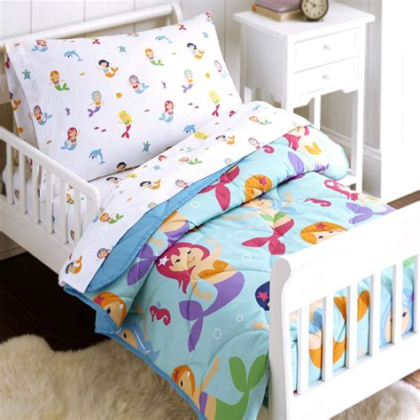 Toddler Bed In A Bag Sets Olive Mermaids 4 Toddler Size Bed In A Bag Set Blanket Warehouse