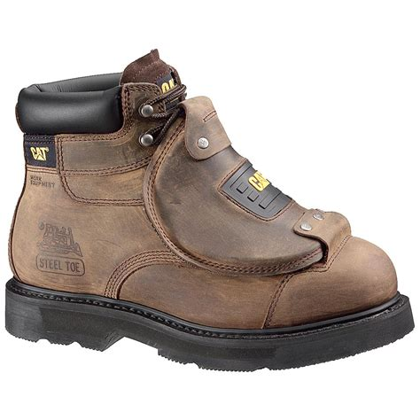mens steel toed boots s cat 174 6 inch assault steel toe work boots brown