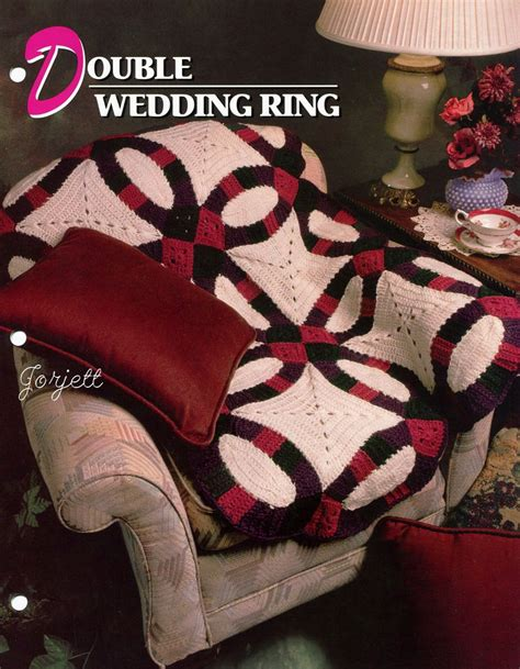 Double Wedding Ring Quilt Afghan, Annie's crochet pattern   eBay