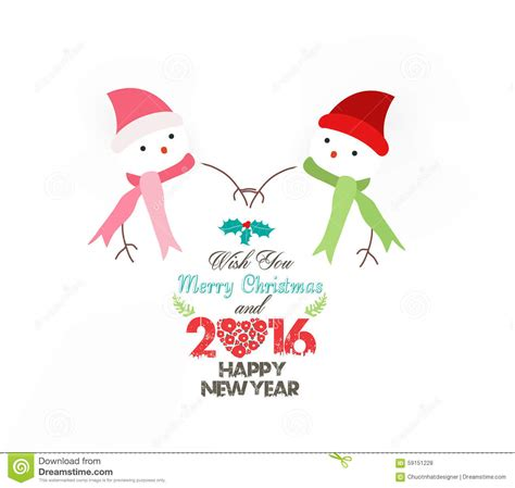 wearing on new year happy new year 2016 snowman wearing scarf stock
