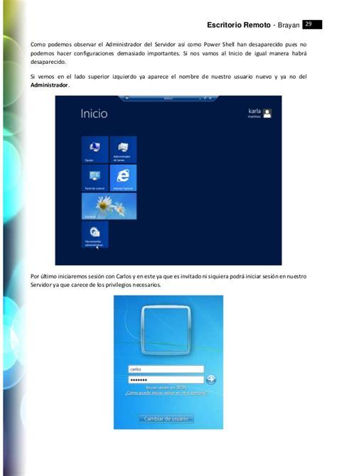 escritorio remoto windows escritorio remoto windows server 2012