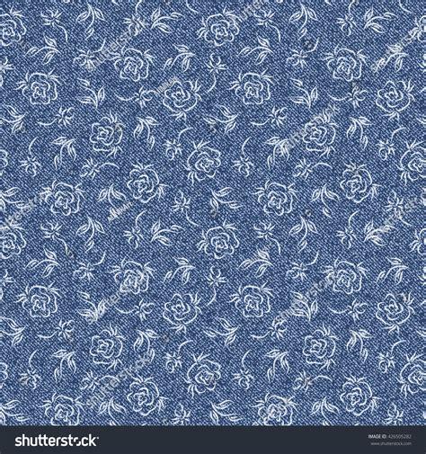 rose pattern jeans rose flower denim floral background jeans stock