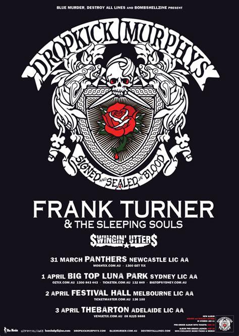 frank turner amp dropkick murphy s australian tour